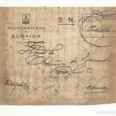 Sellos: FRONTAL CIRCULADA 1932 DE AYUNTAMIENTO DE ALGAIDA A PALMA DE MALLORCA BALEARES . Lote 136471114