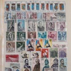 Sellos: ESPAÑA AÑO COMPLETO 1965 EN USADO. EDIFIL 1631 A 1695. Lote 137192906