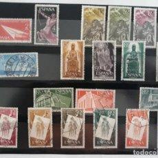 Sellos: ESPAÑA AÑO COMPLETO 1956 EN USADO. EDIFIL 1185 A 1205. EXCEPTO 1196. Lote 137327910