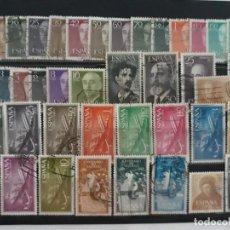 Sellos: ESPAÑA AÑO COMPLETO 1955 EN USADO. EDIFIL 1143 A 1184. Lote 137329702