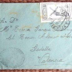 Sellos: CARTA CON CUÑO BEAS DE SEGURA JAEN - SELLO MUTUALIDAD DE CORREOS 10 CENTIMOS. Lote 139032222