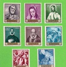 Sellos: EDIFIL 1330-1331-1332...1336-1337-1338-1339. DOMENICO THEOTOCOPOULOS ''EL GRECO'' (1961).** COMPLETA. Lote 139481522