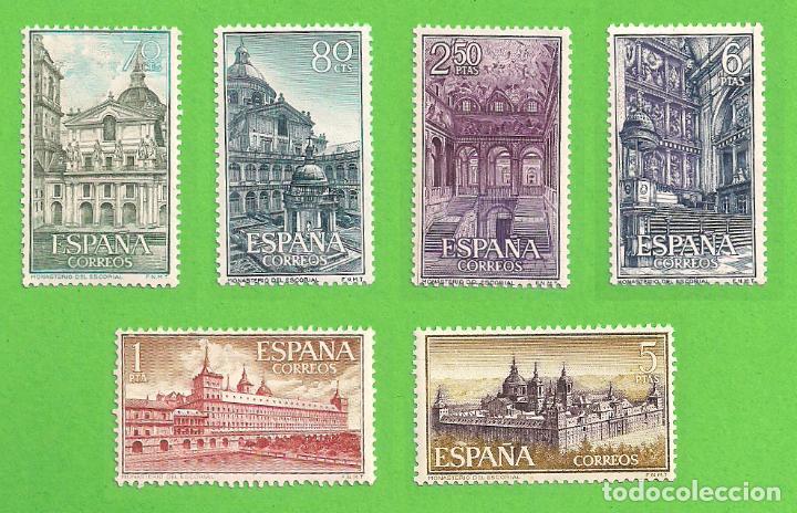 EDIFIL 1382-1383-1384-1385-1386-1387. REAL MONASTERIO DE SAN LORENZO DE EL ESCORIAL. (1961).** NUEVO (Sellos - España - II Centenario De 1.950 a 1.975 - Nuevos)