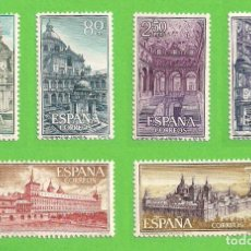Sellos: EDIFIL 1382-1383-1384-1385-1386-1387. REAL MONASTERIO DE SAN LORENZO DE EL ESCORIAL. (1961).** NUEVO. Lote 139743002