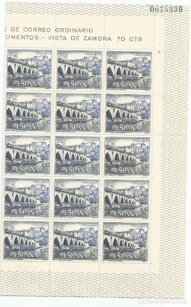 BLOQUE 15 SELLOS-VISTA DE ZAMORA 70 CTS-NUEVOS-1965 (Sellos - España - II Centenario De 1.950 a 1.975 - Nuevos)