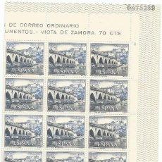 Sellos: BLOQUE 15 SELLOS-VISTA DE ZAMORA 70 CTS-NUEVOS-1965. Lote 139820298