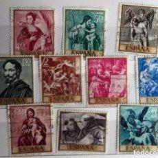 Sellos: ESPAÑA 1969, SERIE PINTORES COMPLETA , ALONSO CANO, 10V . Lote 140328578