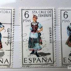 Sellos: ESPAÑA 1970, 3 SELLOS USADOS TRAJES TÍPICOS . Lote 140328646