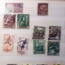 Sellos: ESPAÑA 1962, 14 SELLOS USADOS DIFERENTES . Lote 140329014