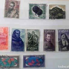Sellos: ESPAÑA 1963, 9 SELLOS USADOS DIFERENTES . Lote 140329166