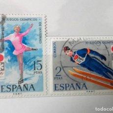 Sellos: ESPAÑA 1972 JUEGOS OLÍMPICOS INVIERNO, SERIE COMPLETA USADOS . Lote 140329762