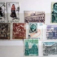 Sellos: ESPAÑA 1969, 10 SELLOS DIFERENTES USADOS . Lote 140330682