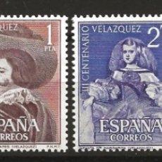 Sellos: R60.G2/ EDIFIL 1340/43, MNH **, 1961, CATALOGO 21,00, VELAZQUEZ. Lote 140975522