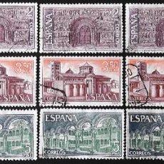 Sellos: EDIFIL 2005-07, 5 SERIES COMPLETAS EN USADO. MONASTERIO DE RIPOLL.. Lote 141179522