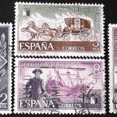 Sellos: EDIFIL 2232-35, SERIE COMPLETA EN USADO. 125 AÑOS DEL SELLO ESPAÑOL, 1975.. Lote 176865668