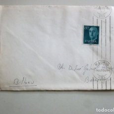 Sellos: CARTA MATASELLOS RODILLO VERTICAL MADRID AÑO 1956 1 SELLO DE 80 CÉNTIMOS. Lote 141643534