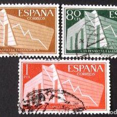 Sellos: EDIFIL 1196-98, SERIE USADA. ESTADÍSTICA ESPAÑOLA (AÑO 1956).. Lote 141755046