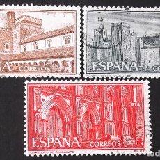 Sellos: EDIFIL 1250-52, SERIE USADA. MONASTERIO DE GUADALUPE (AÑO 1959).. Lote 141755802