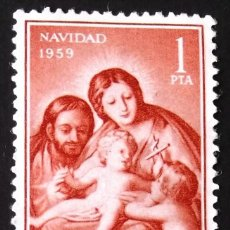 Sellos: EDIFIL 1253, SERIE USADA. NAVIDAD (AÑO 1959).. Lote 141762186