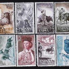 Sellos: EDIFIL 1254-69, SERIE USADA. TAUROMAQUIA (AÑO 1960).. Lote 141762262