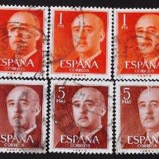 Sellos: EDIFIL 1290-91, 5 SERIES USADAS. FRANCO (AÑO 1960).. Lote 141762562