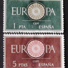 Sellos: EDIFIL 1294-95, SERIE USADA. EUROPA (AÑO 1960).. Lote 141762790
