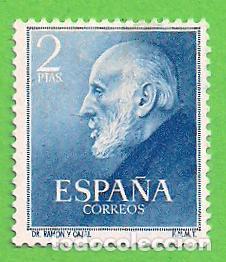 EDIFIL 1119. DOCTORES RAMÓN Y CAJAL. (1952).** NUEVO CON SEÑAL. (Sellos - España - II Centenario De 1.950 a 1.975 - Nuevos)