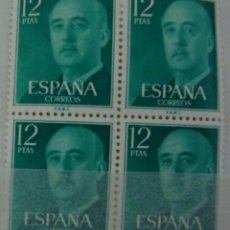 Sellos: GENERAL FRANCISCO FRANCO- 4 SERIES BLOQUES DE 4 X 4 VALORES = 16 SELLOS) EDIFIL 2225-28 - AÑO 1974. Lote 141999730