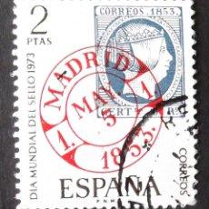 Sellos: EDIFIL 2127, SERIE COMPLETA USADA. DÍA MUNDIAL DEL SELLO (AÑO 1973).. Lote 142511482