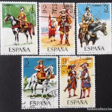 Sellos: EDIFIL 2167-71, SERIE COMPLETA USADA. UNIFORMES MILITARES (AÑO 1974).. Lote 142647422