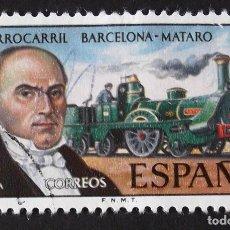 Sellos: EDIFIL 2173, SERIE COMPLETA USADA. FERROCARRIL: BARCELONA-MATARÓ (AÑO 1974).. Lote 142647610