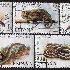 Sellos: EDIFIL 2192-96, SERIE COMPLETA USADA. FAUNA HISPÁNICA (AÑO 1974).. Lote 142648182