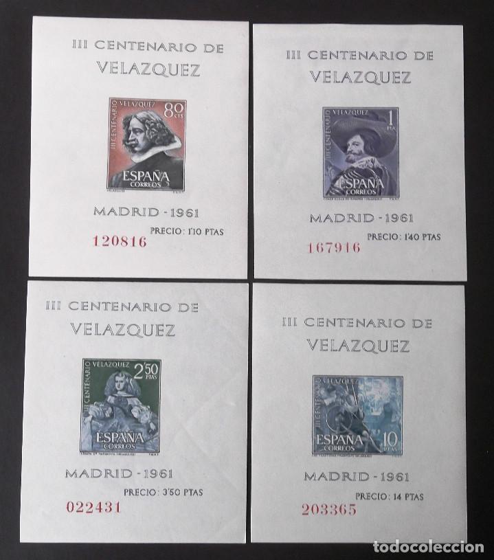 1344-47, SERIE NUEVA, SIN CH. VELÁZQUEZ (1961). (Sellos - España - II Centenario De 1.950 a 1.975 - Nuevos)