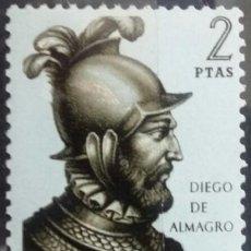Sellos: ESPAÑA. 1964, FORJADORES DE AMÉRICA. 2 PTS. VERDE OSCURO Y AZUL (Nº 1626 EDIFIL).. Lote 143258378