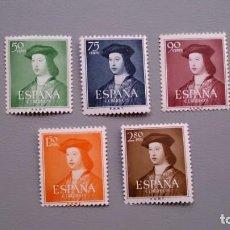 Sellos: ESPAÑA - 1952 - EDIFIL 1106/1110 - SERIE COMPLETA - MNH** - NUEVOS - VALOR CATALOGO 83€.. Lote 143326598