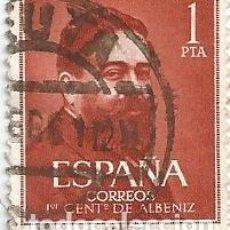 Sellos: 90 SELLOS SERIE CENTENARIO ALBENIZ 1960 USADOS-EDIFIL 1320/21. Lote 143598854
