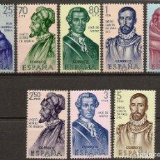 Sellos: ESPAÑA EDIFIL 1526/1533** MNH FORJADORES AMÉRICA SERIE COMPLETA 1963 NL557. Lote 143755026