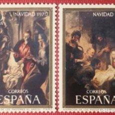 Sellos: ESPAÑA.1970, NAVIDAD. 2 VALORES: 1'50 PTS. Y 2 PTS. (Nº 2002-2003 EDIFIL). . Lote 143922182
