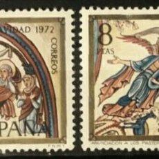Sellos: ESPAÑA. 1972, NAVIDAD. DOS VALORES: 2 PTS. Y 8 PTS. (Nº 2115-2116 EDIFIL).. Lote 143979346