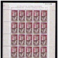 Sellos: ESPAÑA 1972 - PLIEGO COMPLETO DE 25 SELLOS DE FERNAN GONZALEZ (A FACIAL) - EDIFIL Nº 2073 . Lote 144087170
