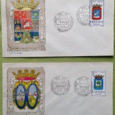 Sellos: ESPAÑA SPAIN SOBRES PRIMER DÍA FDC 1963 HUELVA HUESCA. Lote 144557778