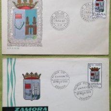 Sellos: ESPAÑA SPAIN SOBRES PRIMER DÍA FDC 1966 ZAMORA. Lote 144558698