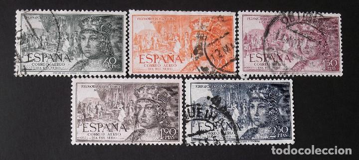 1111-15, SERIE USADA. AÉREO. FERNANDO EL CATÓLICO (1952). (Sellos - España - II Centenario De 1.950 a 1.975 - Usados)