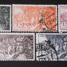 Briefmarken - 1111-15, serie usada. Aéreo. Fernando el Católico (1952). - 144700318