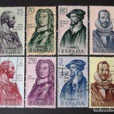 Sellos: 1374-81, SERIE USADA. FORJADORES DE AMÉRICA (1961).. Lote 144700814