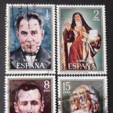 Sellos: 2027-30, SERIE USADA. CELEBRIDADES ESPAÑOLAS (1971).. Lote 145054742
