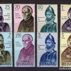 Selos: ESPAÑA 1965 ** MNH BUILDERS OF THE NEW WORLD - 12/6. Lote 145127962