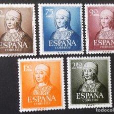 Sellos: 1092-96, SERIE NUEVA, SIN CH. ISABEL LA CATÓLICA (1951).. Lote 145331890