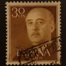 Sellos: ESPAÑA - SPAIN - SERIE BÁSICA. GENERAL FRANCO - 1955 - 30 C . Lote 146074678