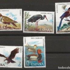 Sellos: TV_003.G3 / ESPAÑA 1973, EDIFIL 2134/38 **, FAUNA HISPANICA. Lote 237541425